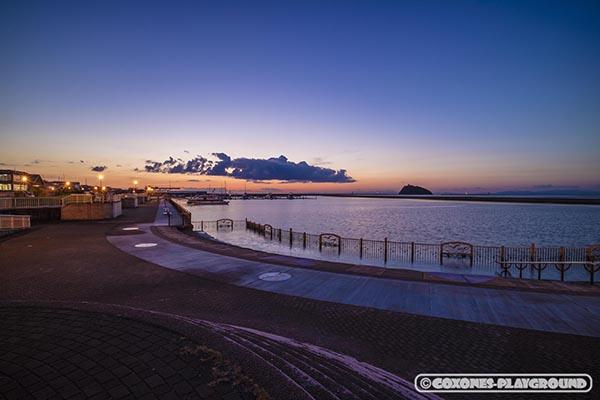 室蘭港から望む夕景