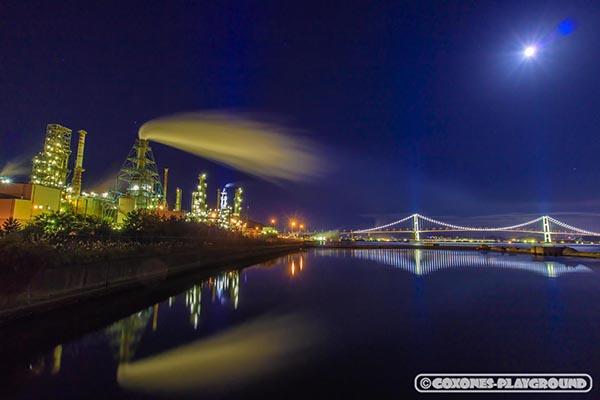 室蘭工場&白鳥大橋の夜景