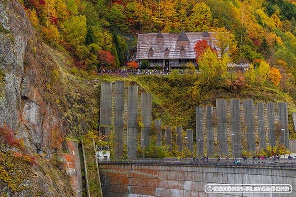 豊平峡ダムのレストハウス