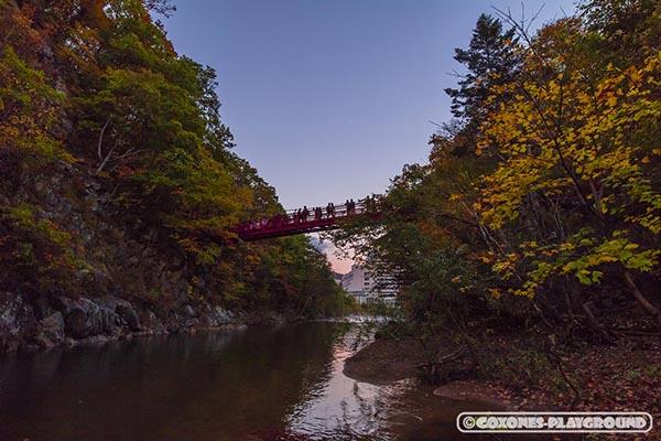 夕方の二見吊橋