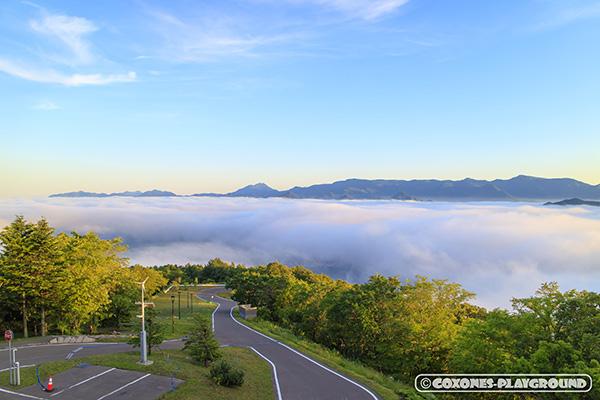 藻岩山山頂から見えた奇跡の雲海