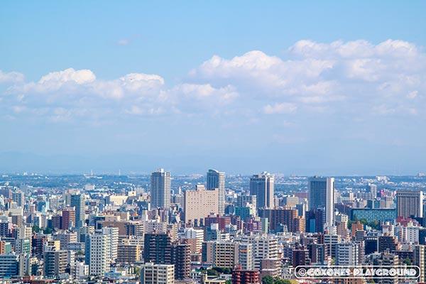 札幌市中心部~中島公園付近の高層ホテルとタワーマンション群