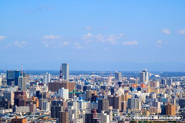 札幌市中心部~さっぽろテレビ塔付近とノルベサ観覧車