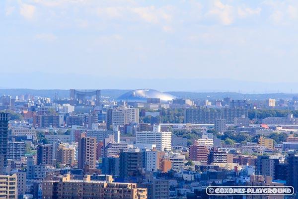 旭山記念公園から見た札幌ドーム