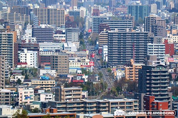 札幌市内のマンション群の風景