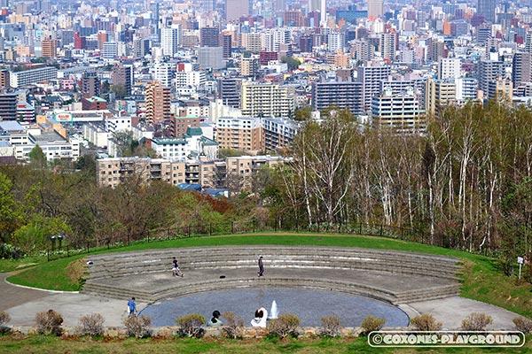 旭山記念公園の噴水広場