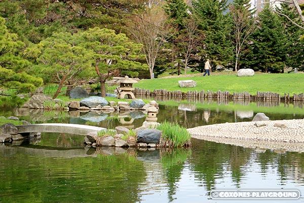中島公園内にある日本庭園