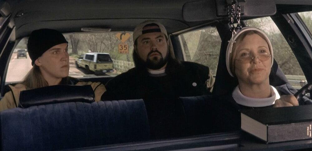 ヒッチハイクをしたジェイ&サイレント・ボブ