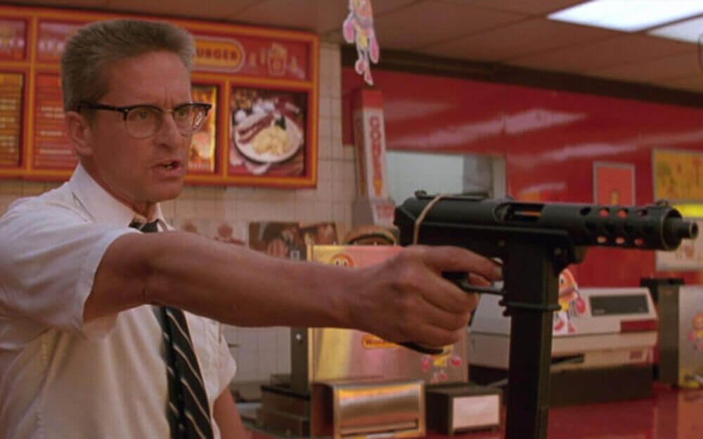 ハンバーガー店で暴れるD-Fens