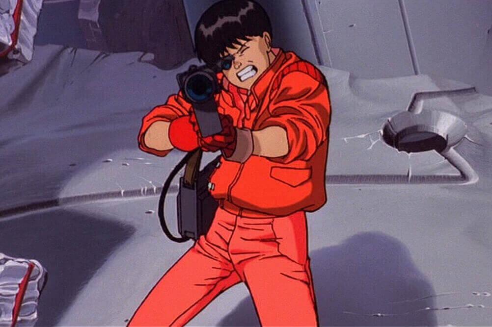 レーザー銃を構える金田