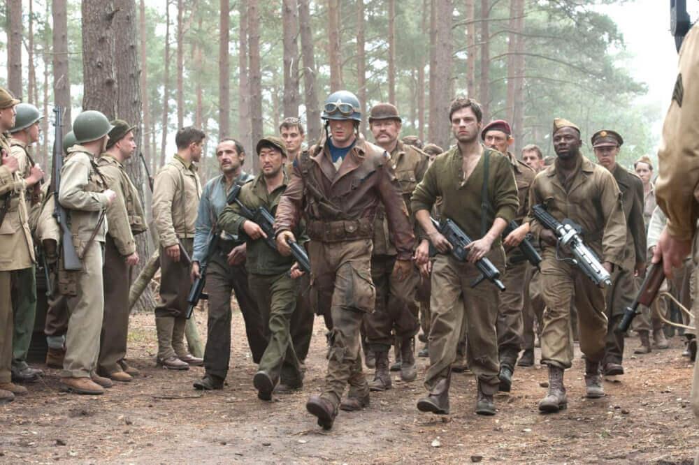 兵士を救出したキャプテン・アメリカ